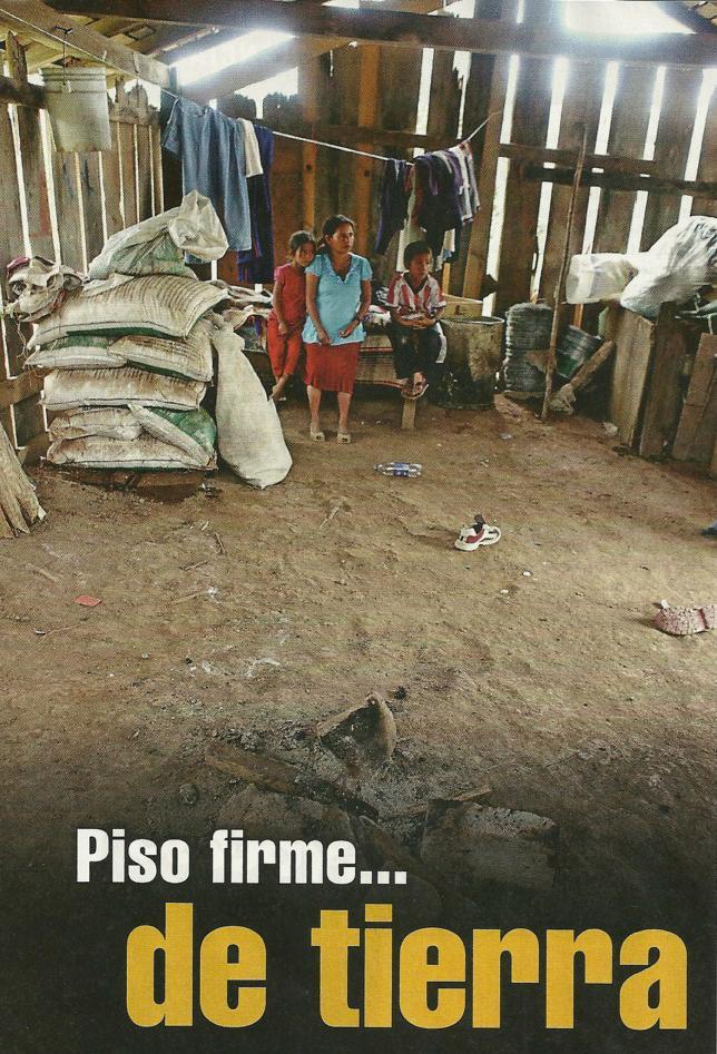 Otra promesa incumplida piso firme de tierra naco nius for Nivelar piso de tierra