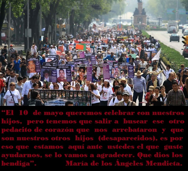 10 de Mayo marcha madres de desaparecidos