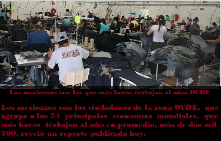 Mexicanos trabajan mas horas