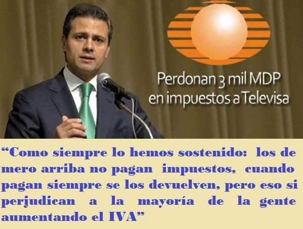 Perdonan 3 mil millones a Televisa 2