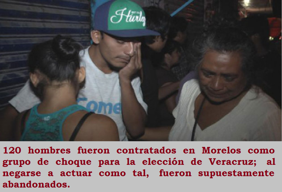 Morelenses abandonados en Veracruz