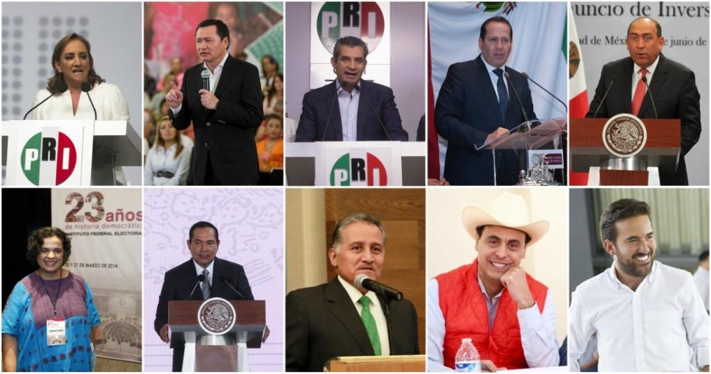 Líderes charros, dirigentes corruptos, Hijos de corruptos y ex gobernadores rateros.